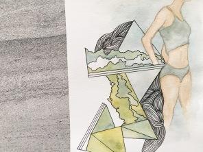 watercolor and pen on paper | (c) Yang Cuevo
