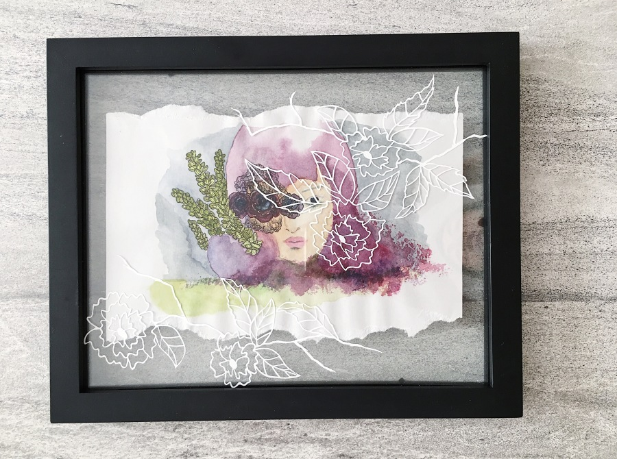 watercolor-papercut-mixed-media-art-paper-collage-painting-plant-lovers-woman