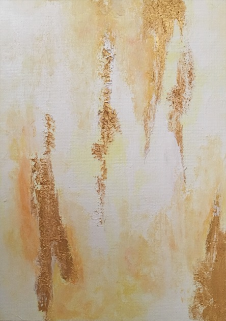 acrylic, gesso, soft pastels, and glazing liquid on canvas  (c) Yang Cuevo