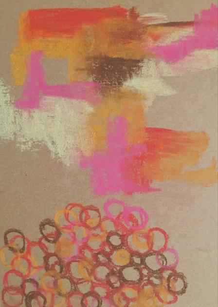 soft pastels on kraft chipboard   (c) Yang Cuevo