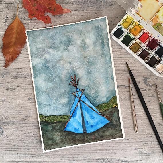 watercolor on paper   (c) Yang Cuevo