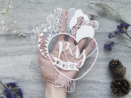 anniversary-gift-wedding-gift-personalized-papercut-art-home-decor