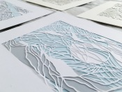 papercut-art-scherenschnitte-contemporary-art-layers-blue-gray-home-decor-framed-artwork