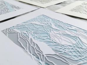 papercut-art-scherenschnitte-contemporary-art-layers-blue-gray-home-decor-framed-artwork