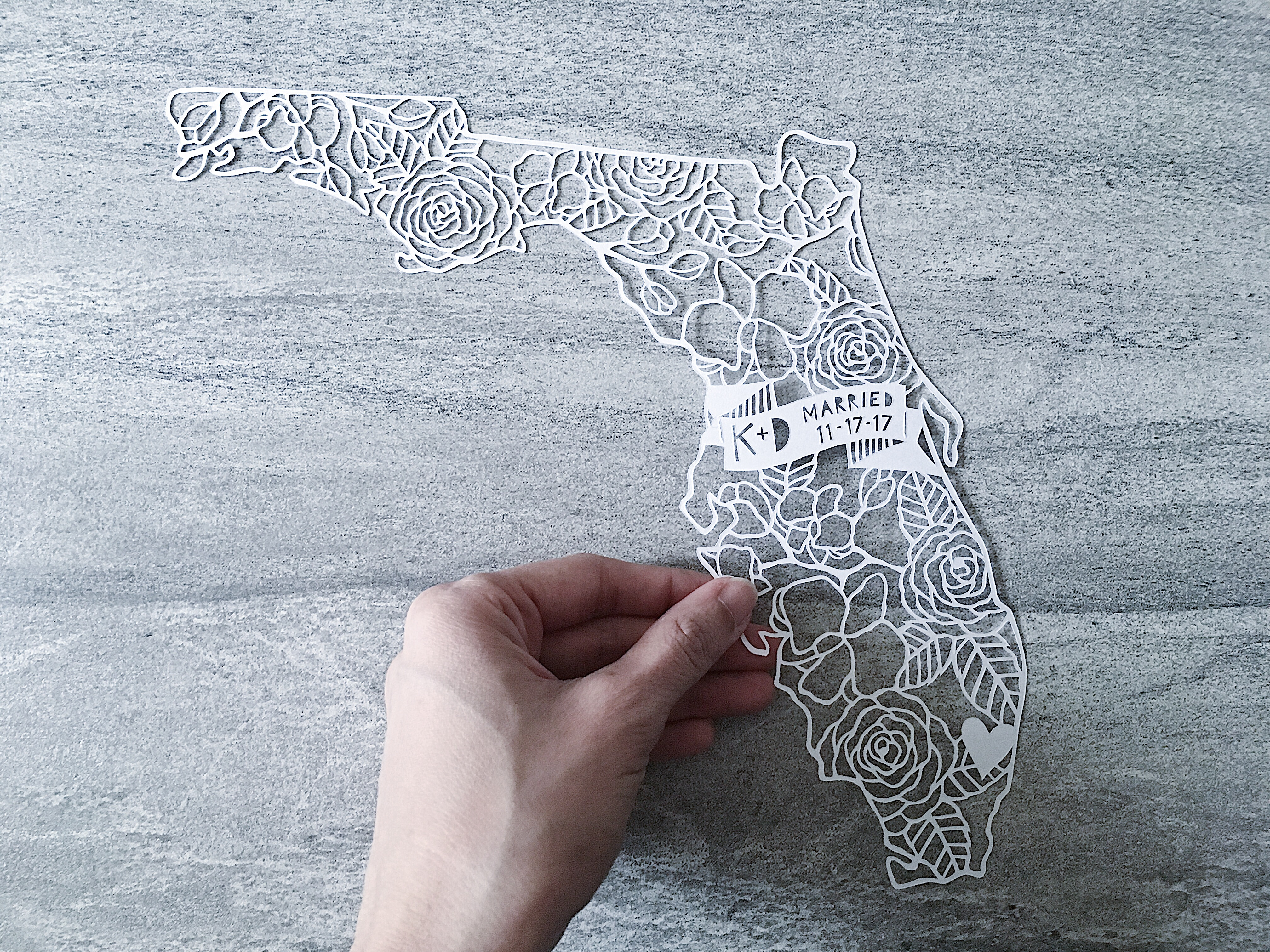 custom-anniversary-gift-florida-wedding-map-papercutting-papercut-art-handcut-home-decor (2)
