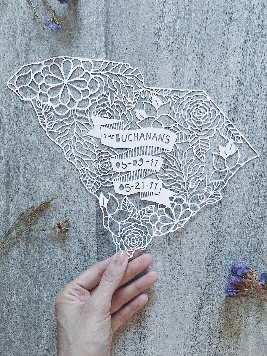 custom-papercut-art-family-heirloom-art-contemporary-papercutting-art-south-carolina-map-home-decor (10)