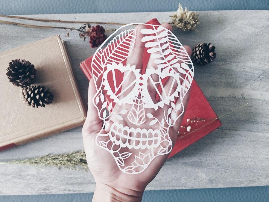 dia-de-los-muertos-skull-papercut-art-papercutting-scherenschnitte-ooak-home-decor-gift