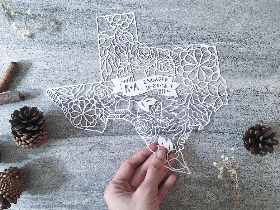 engagement-gift-custom-texas-map-papercut-art-scherenschnitte (4)