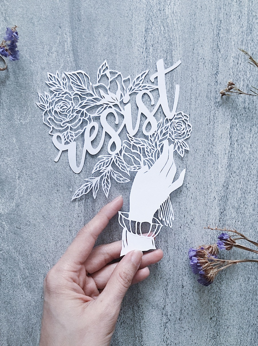 feminist-art-papercutting-resist-papercut-art-internationalwomensmonth-empowering-art-scherenschnitte