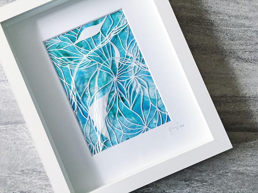 framed-papercut-art-acrylics-mixed-media-art-3D-art-contemporary-art-home-decor