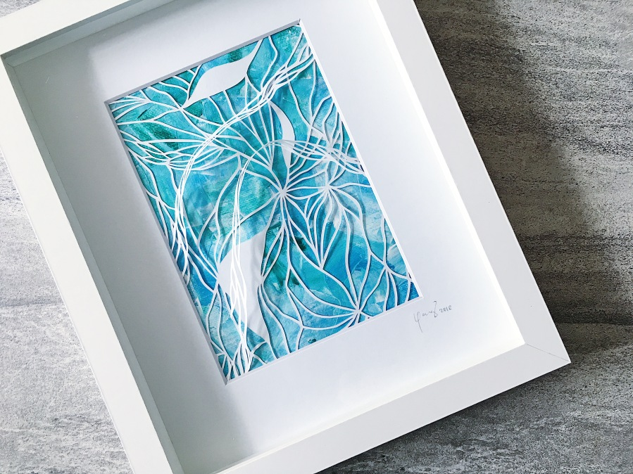 framed-papercut-art-acrylics-mixed-media-art-3D-art-contemporary-art-home-decor