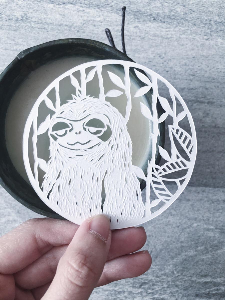 papercut-art-sloth-cute-animal-papercutting-bestfriend-gift-scherenschnitte