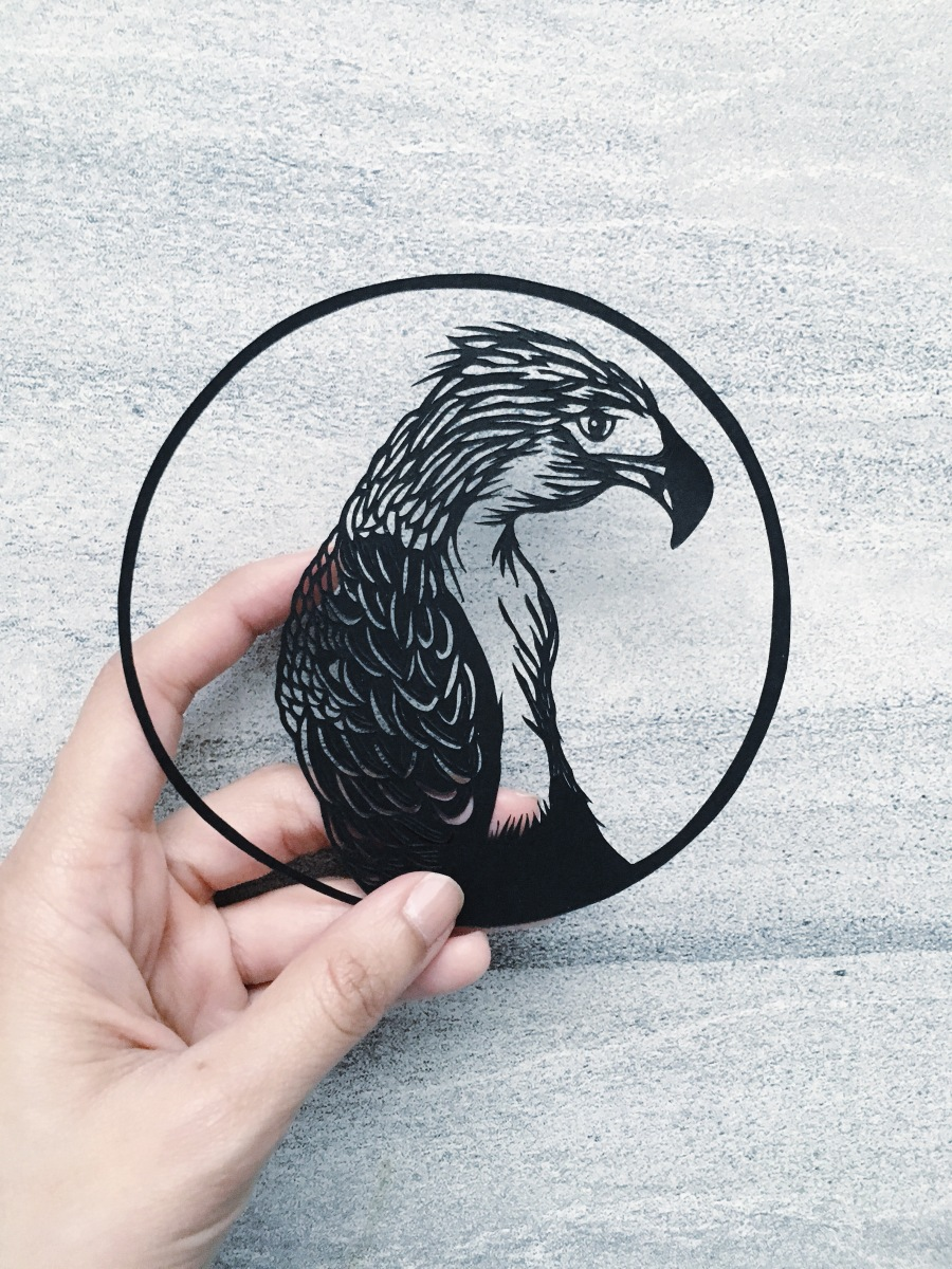 papercutting-art-eagle-illustration-monkey-eating-eagle-handcut-paper-art-scherenschnitte-contemporary-art