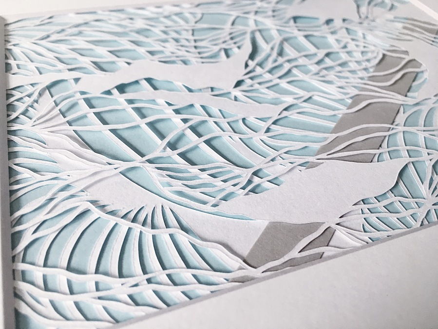 papercutting-contemporary-art-multilayer-muted-blue-and-grey-artwork-home-decor