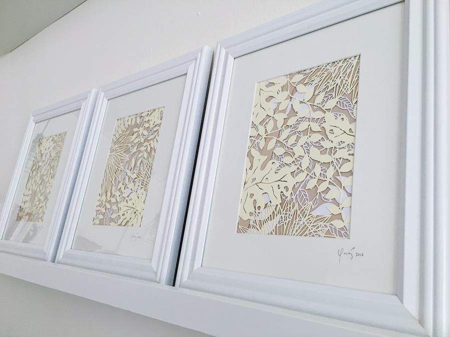 papercutting-tropical-leaves-warm-artwork-contemporary-home-decor-framed-papercut-art