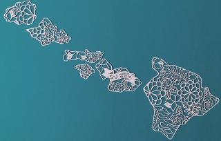 hawaii-custom-papercut-map-papercutting-wedding-gift-islands-paperart