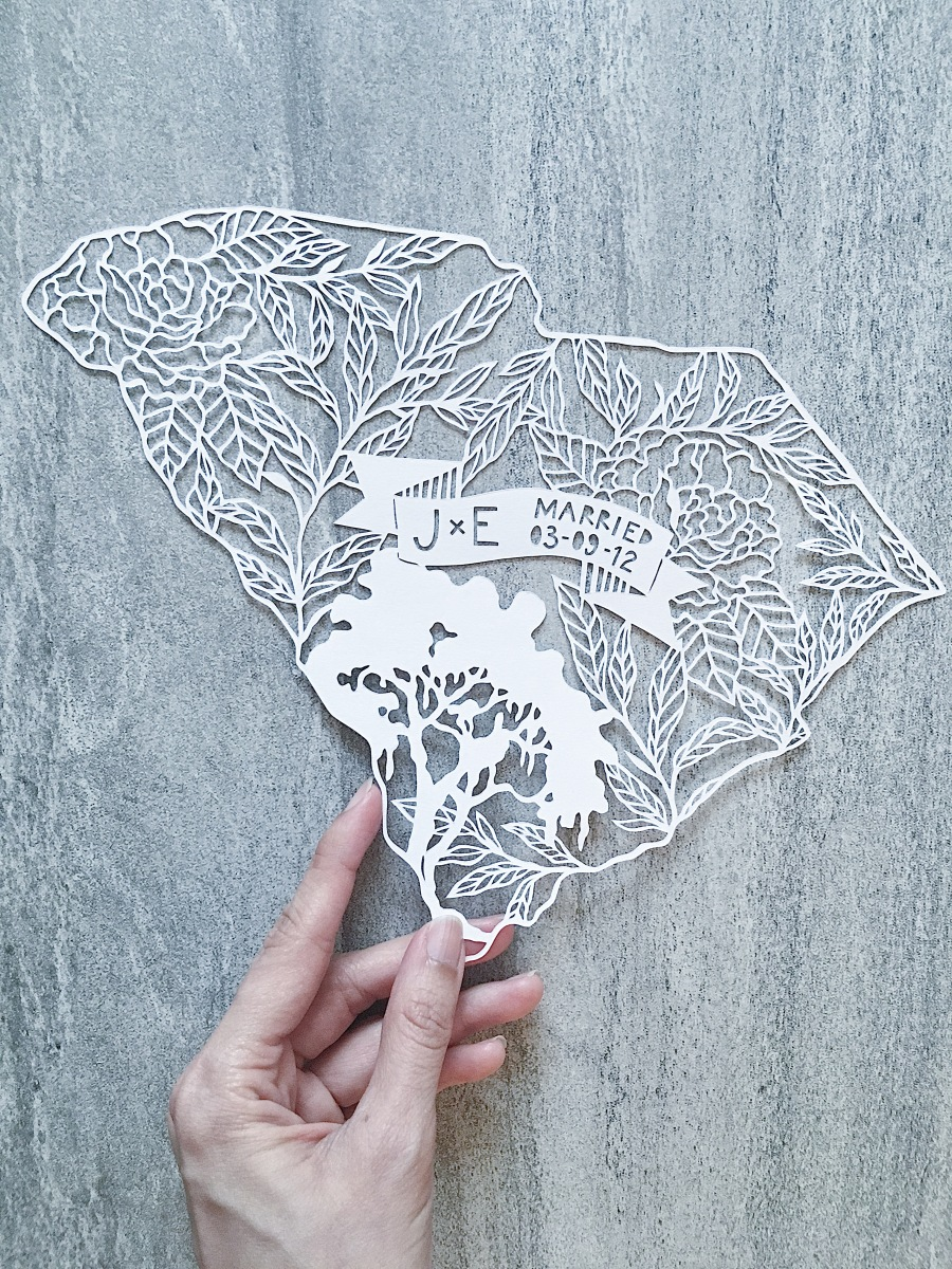 wedding-anniversary-gift-personalized-art-papercut-papercutting-handmade-home-decor-scherenschnitte-south-carolina (4)