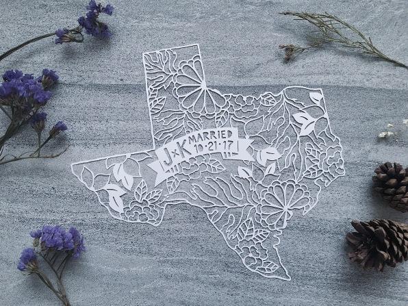 wedding-gift-custom-texas-map-scherenschnitte-papercut-art-papercutting (1)